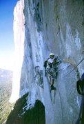 Rock Climbing Photo: aiding on Zodiac