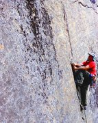 Rock Climbing Photo: Jay H. igniting his forearms.