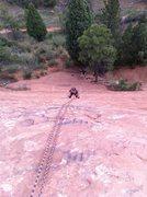 Rock Climbing Photo: Becka on her first outdoor climb.