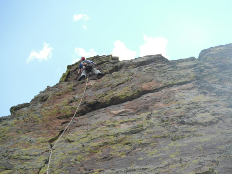 Rock Climbing Photo: Steve borrowed my camera to take this pic. Route o...