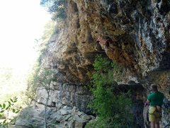 Rock Climbing Photo: Sean Ferrell in heaven on Fox Confessor.