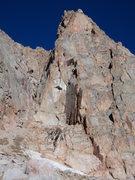 Rock Climbing Photo: The Honcho Boncho Buttress gains the chimney on th...