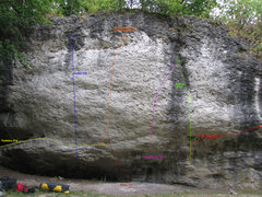 Rock Climbing Photo: The middle of the wall. A couple of routes are lef...