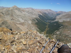 Rock Climbing Photo: Huron Peak from Unnamed 13,462'.