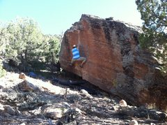 Rock Climbing Photo: Mikie working Reinforced Static.