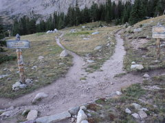 Rock Climbing Photo: This is the only real trail route finding point on...