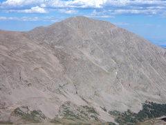 Rock Climbing Photo: Mummy Mt. (above Lawn Lake) from Fairchild Mt.