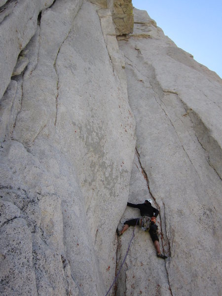 Rock Climbing Photo: Starting the first pitch, photo taken from the bol...
