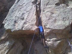 Rock Climbing Photo: Getting into the slot.