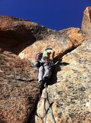 Rock Climbing Photo: Cory styles the short but sweet last pitch 9+ fing...