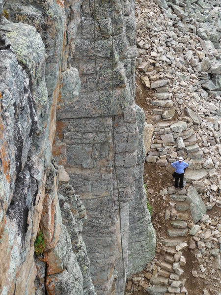 Rock Climbing Photo: New stairs on West side of Good Medicine