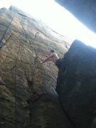 Rock Climbing Photo: Brushing and thinking...