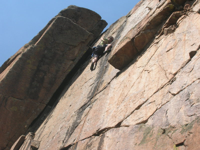 Rock Climbing Photo: Right above the crux.