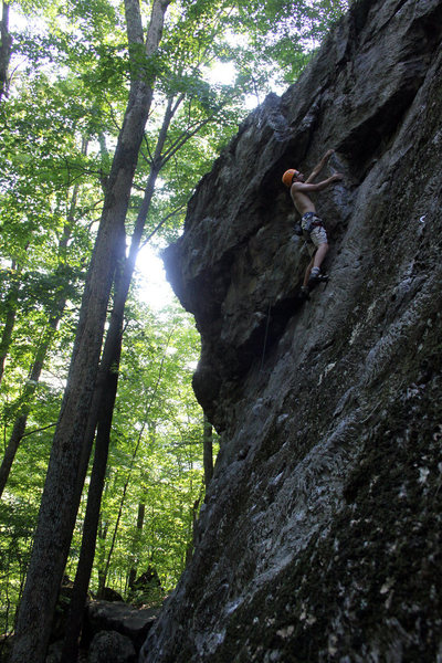 Rock Climbing Photo: just before the crux of Thou Shalt Not Covet