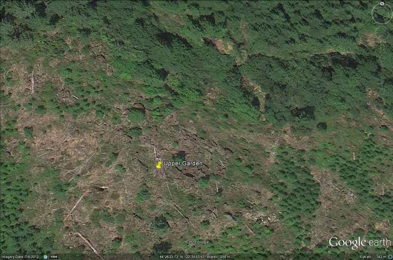 whorf boulder, clearcut area<br>  visible on google earth