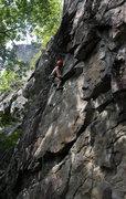 Rock Climbing Photo: Mr. Dan on the fun route