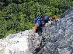 Rock Climbing Photo: near the end of the 3rd pitch