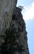 Rock Climbing Photo: 2nd pitch, taken from the 1st belay station... thi...