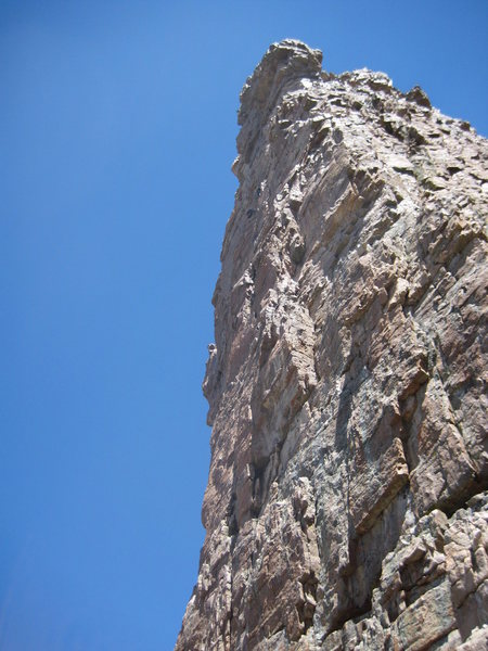 Rock Climbing Photo: Climbers on the Iron Hayden Wall, Hayden Peak.