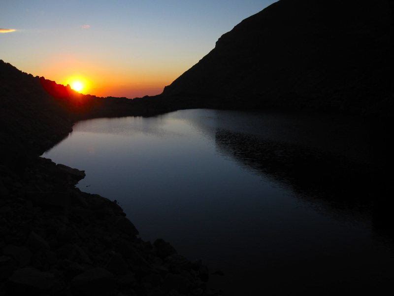 Rock Climbing Photo: Chasm Lake sunrise.