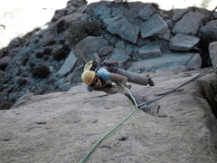 Rock Climbing Photo: motoring past the P5 crux move