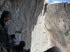 Rock Climbing Photo: Cody Blair keeping morale high moments before casu...