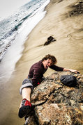 Rock Climbing Photo: Nick bouldering at Point Dume.