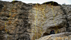 Rock Climbing Photo: 1. Safety Goggles - 5.9 2. Overlooked - 5.10a 3. 8...