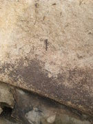 Rock Climbing Photo: This is a close up of Brass Plates, the route on t...
