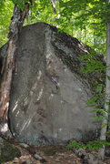 Rock Climbing Photo: Here's a picture of Blundercling from the trail. P...