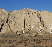 Rock Climbing Photo: A.Dedication 5.7R B.No where to Run 5.10R C.Return...
