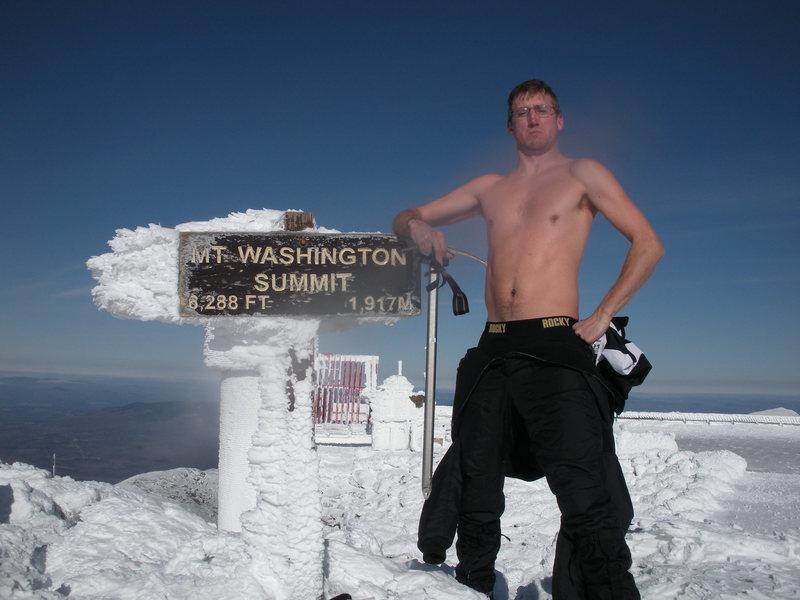 Rock Climbing Photo: Denny at -10F on Mt Washington
