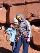 Rock Climbing Photo: Base Castleton tower. My Daughter and her friend. ...