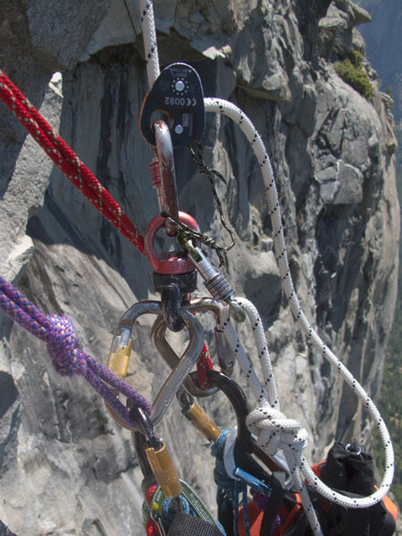 Rock Climbing Photo: Micro-Trax in use