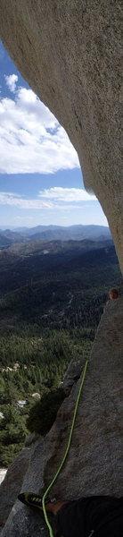 Rock Climbing Photo: Vertical panorama of the belay ledge