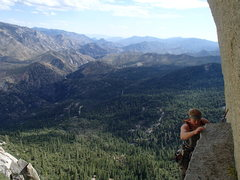 Rock Climbing Photo: Coming up on the belay ledge...