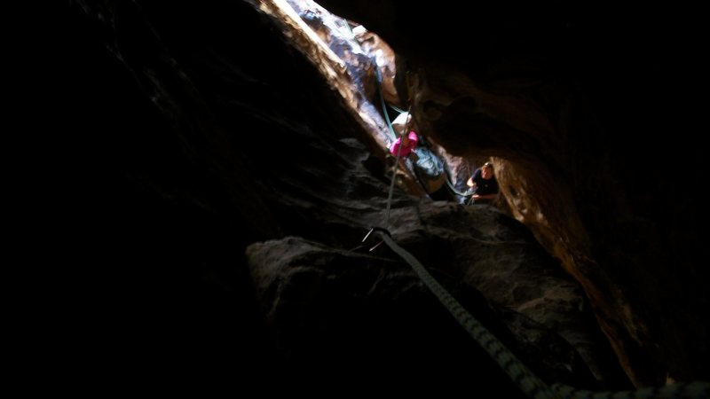 """Rock Climbing Photo:  Pitch 5 of """"tunnel vision"""" 5.7 October ..."""