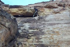 Rock Climbing Photo: Gettin into the roof on prophecy wall 10c. Near St...