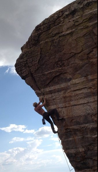Rock Climbing Photo: gehrig on the arete