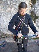 Rock Climbing Photo: Rackin up. Scout mission at Jet stream wall, red r...