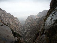 Rock Climbing Photo: North fork of Pine creek during thunder storm. Pai...