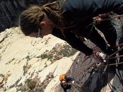 Rock Climbing Photo: Pullin Chris Brunner up the excellent 4th pitch of...