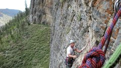 Rock Climbing Photo: Geo following a multi pitch route at mount charles...