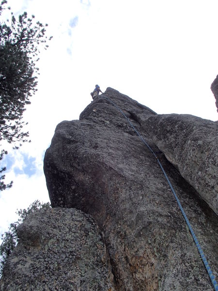 Kodah.  A couple fist and finger sized cams will get you to the bolts.  Nice route, hard .9 in my opinion.