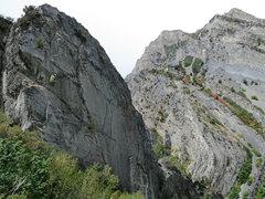 Rock Climbing Photo: Jonathan Scoville, feeling his way around the crux