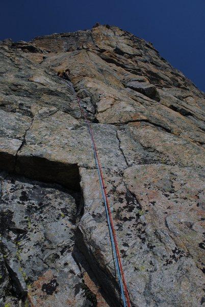 Rock Climbing Photo: P1 5.9 Variation Start