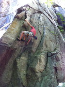 """Rock Climbing Photo: Jeff pulling the move on """"Connors Variation&q..."""