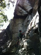 Rock Climbing Photo: Richard,nearing the crux of structures 5.9. Once y...