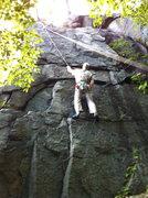 "Rock Climbing Photo: Todd on ""amc er""  5.8-."