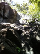 Rock Climbing Photo: Dreadlock is straight up the crack system . Bridge...